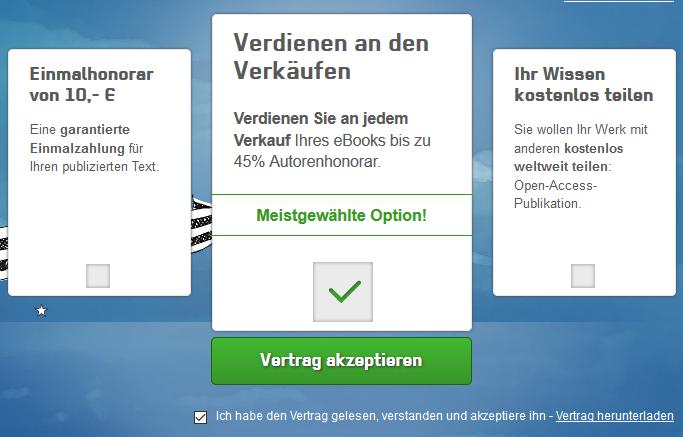 Grin Verlag Vergütung