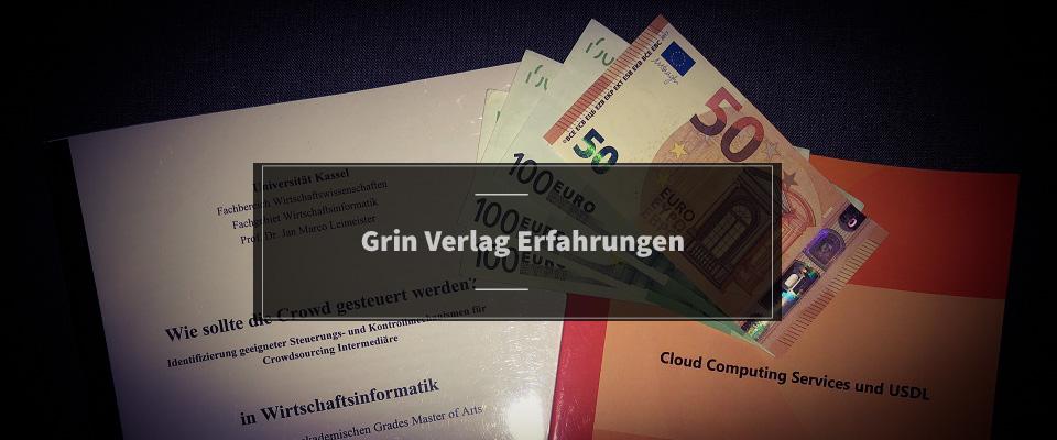 Grin Verlag Erfahrungen